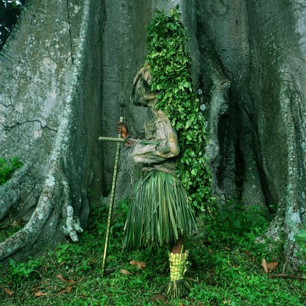 Phyllis Galembo, Atam Masquerader, Alok Village, Nigeria, 2004, Ilfochrome, 30 x 30 inches