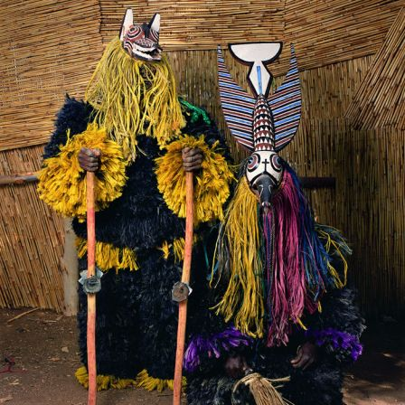 Phyllis Galembo, Masquerade from Gossina Village, Burkina Faso, 2006, Ilfochrome, 30 x 30 inches